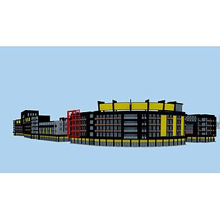 商业建筑配楼3d模型3d模型