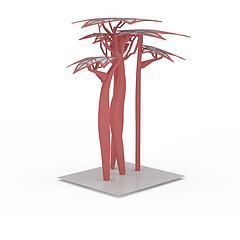 园林广场雕塑小品模型3d模型