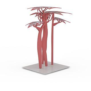 园林广场雕塑小品3d模型