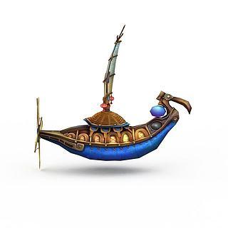 古代游戏场元素<font class='myIsRed'>船</font>3d模型