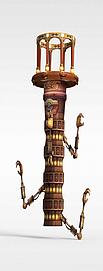 古代游戏场景道具3d模型