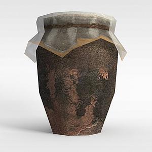 3d古代釀酒缸模型