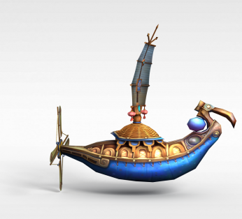 古代游戏场元素船