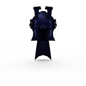 笑傲江湖游戲元素頭盔模型3d模型