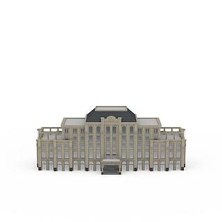 办公楼建筑外观3d模型