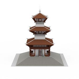 藏式佛塔模型3d模型