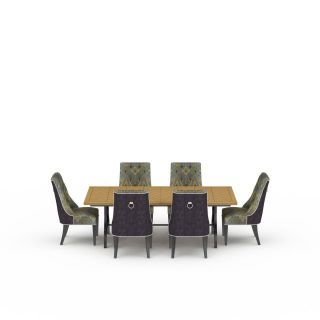 波士顿餐桌<font class='myIsRed'>餐椅</font>3d模型