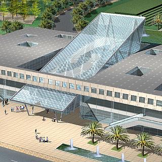 艺术风格商业办公楼3d模型