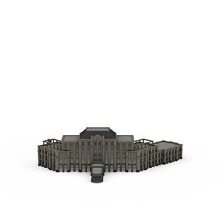 欧式商务办公楼建筑3d模型
