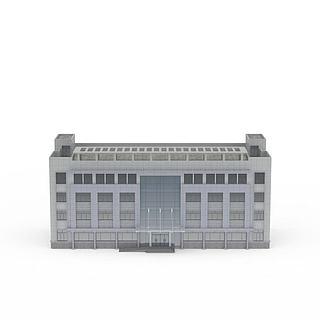 教学楼办公楼宇3d模型