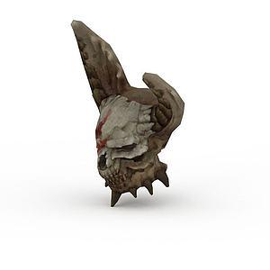 剑灵游戏元素骷髅头模型3d模型