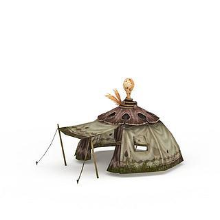 剑灵场景帐篷3d模型
