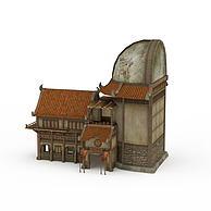剑灵场景酒楼3D模型3d模型