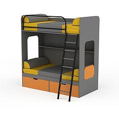 带储物上下儿童床模型3d模型
