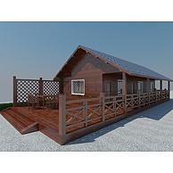 度假村木屋3D模型3d模型