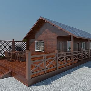 度假村木屋模型3d模型