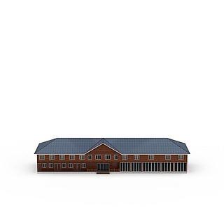农业生态园木屋3d模型