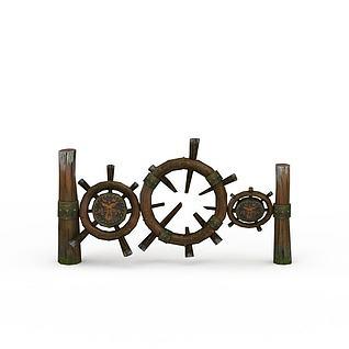 剑灵场景道具装饰模型3d模型