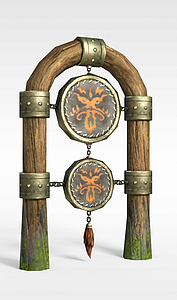 剑灵场景鼓模型3d模型