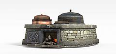 剑灵场景灶台3D模型3d模型