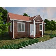 假三间度假村木屋3D模型3d模型