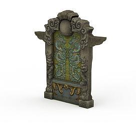 剑灵游戏建筑场景3d模型