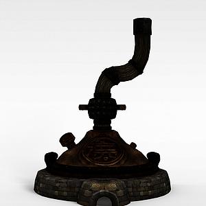 剑灵游戏建筑场景模型3d模型