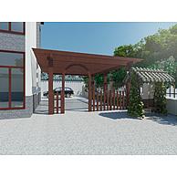 现代实木廊架3D模型3d模型