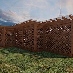 木结构廊架设计3D模型3d模型