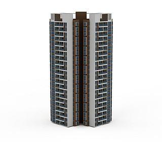 现代高层建筑3d模型