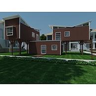 集装箱式木屋别墅3D模型3d模型
