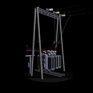 變壓器模型3d模型
