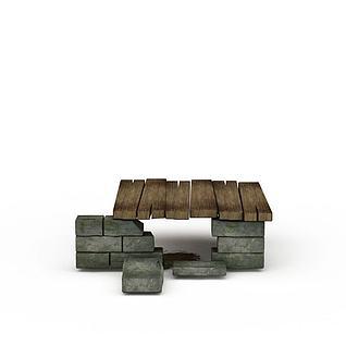 Q版场景小木屋3d模型