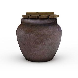 游戏元素水缸3d模型