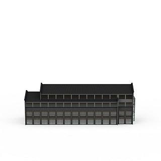 江南风商业楼3d模型