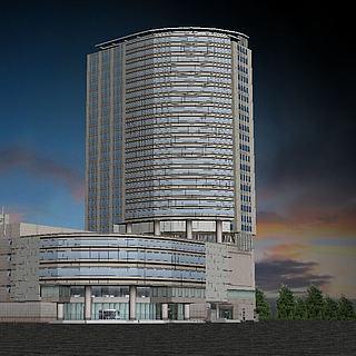 商业大厦3d模型 商业大厦3d模型下载 3D学苑