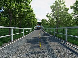 郊外公路模型