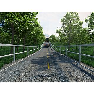 郊外公路3d模型