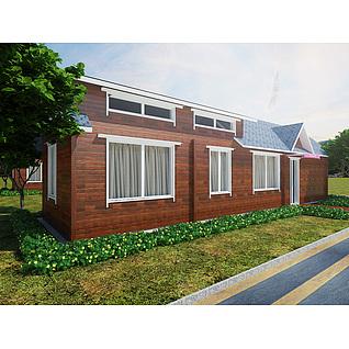 木屋别墅3d模型3d模型