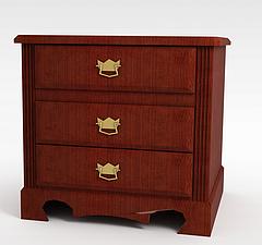 红木家具床头柜模型3d模型