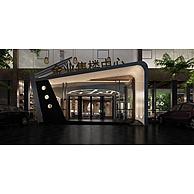 售楼中心门脸3D模型3d模型