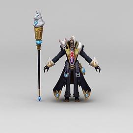 王者荣耀角色模型3d模型