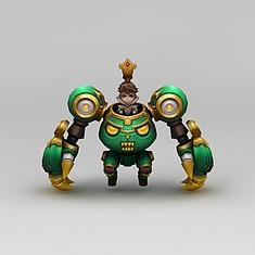 王者荣耀游戏人物美女战士3D模型3d模型