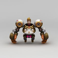 王者荣耀游戏人物机械战士3D模型3d模型