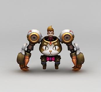 王者荣耀游戏人物机械战士