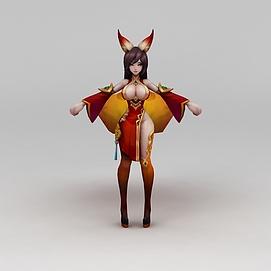 3d<font class='myIsRed'>王者荣耀</font>游戏人物美女模型