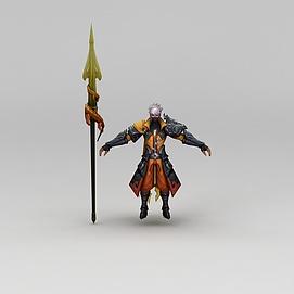 3d<font class='myIsRed'>王者荣耀</font>游戏人物战士模型