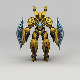 3d<font class='myIsRed'>王者荣耀</font>动漫角色战士模型
