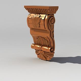 欧式精美雕花构件3d模型