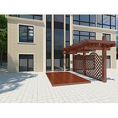 别墅前的单挑廊架3D模型3d模型